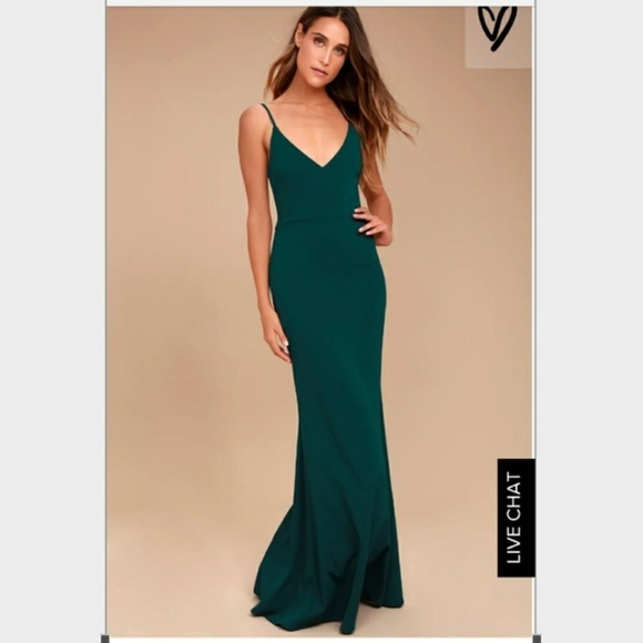 1df664acc1 Lulu s Dresses   Skirts - INFINITE GLORY FOREST GREEN MAXI DRESS LULUS